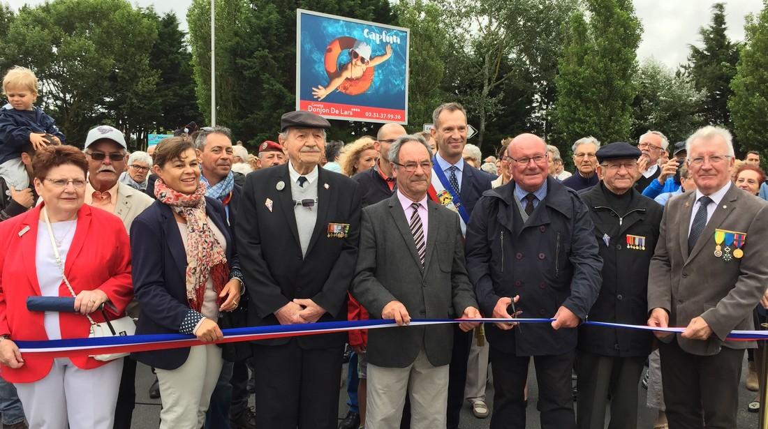 Le 1er juillet dernier, les élus ont inauguré l'Avenue de la Combattante