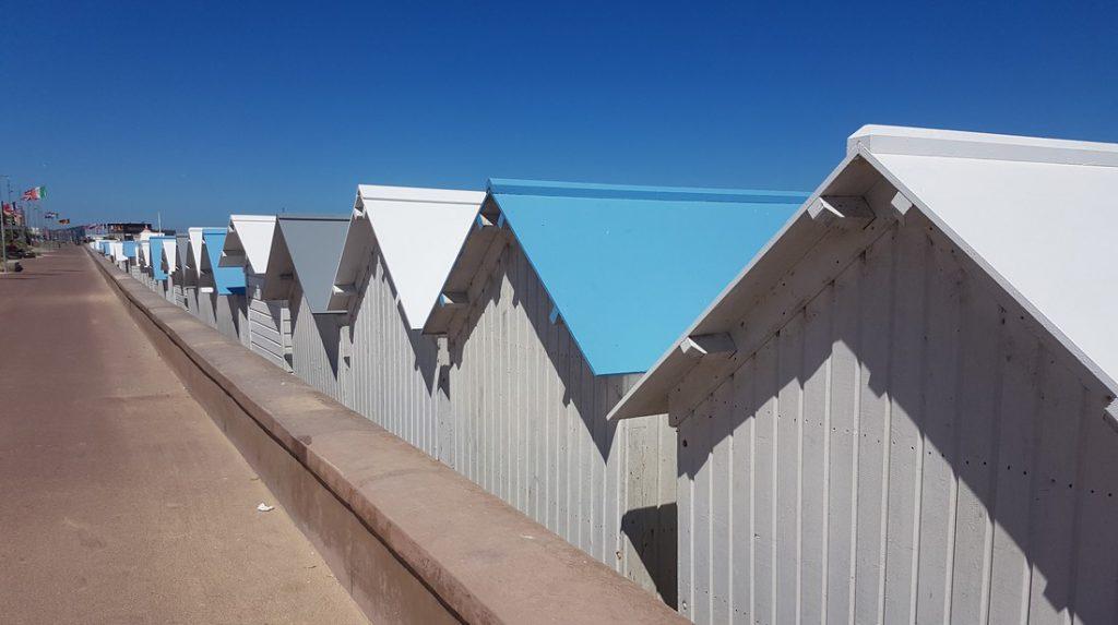 Les cabines de plage de Courseulles